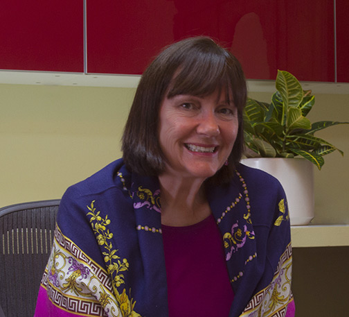 Julie Chambers in Acupuncture and Herbal Medicine Office