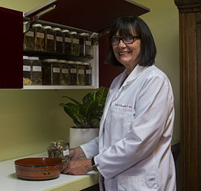 Julie Chambers with Herbal Medicine