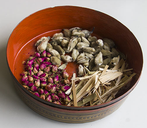 Close up of Chinese Herbal Medicine